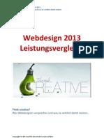 Webdesign 2013 Leistungsvergleich