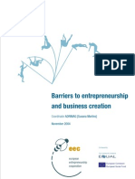 Barriers Entrepreneurship and Business Creation