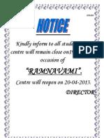 Notice Ptu