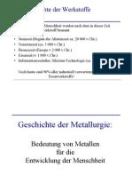 Geschichte Metalle