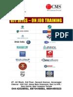 CMS Annanagar OJT and Placement List