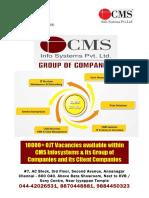 CMS Annanagar Placements List