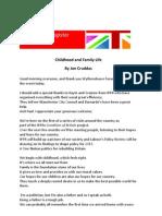 Jon Cruddas - Childhood and Family Life
