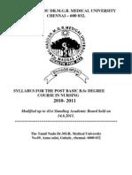post basic nursing syllabus