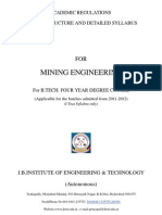 mining engineer 1& 2 yr syllabus