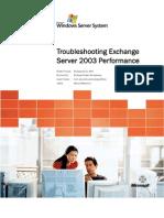 Troubleshooting Microsoft Exchange Server 2003 Performance