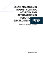 Recent Advances in Robust Control - Theory and Applications in Robotics and Electromechanics