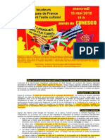 """Les défenseurs des langues """"régionales"""" sur le parvis de l'Unesco"""
