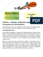 Contra o Tijuana, Palmeiras joga para passar às quartas na Libertadores