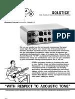 Solstice Manual