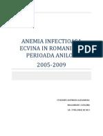 Anemia Infecțioasă Ecvină