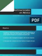 Empresas Multinacionales en México PRESENTACIÓN