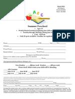 summer preschool flyer