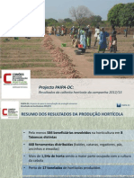 Apresentação dos resultados da horticultura 2012/13
