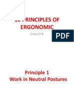 10 Basic Principles of Ergonomic