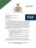 Bradford County Secretary Hanger Letter