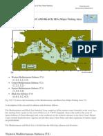 FAO Fisheries &Amp; Aquaculture - FAO Major Fishing Areas - MEDITERRANEAN and BLACK SEA (Major Fishing Area 37)