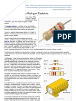 A Look at the Power Rating of Resistors