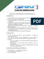 Roteiro DEFEITOS CONGÊNITOS