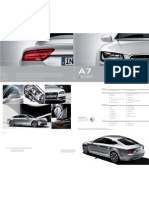 Audi A7 & S7 Catalogue (Germany 2013)
