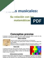 Notas Musicales - Su relación con las matematicas
