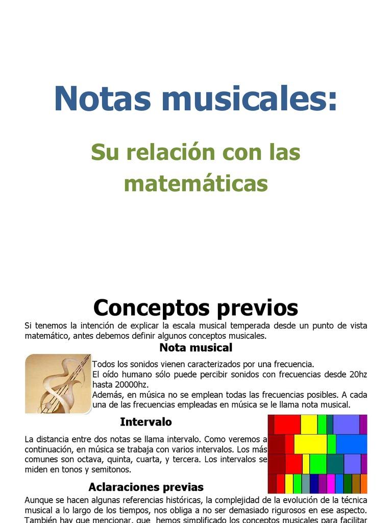 Notas Musicales Su Relación Con Las Matematicas