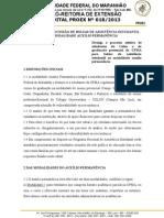 Edital Nº 0182013 Auxílio Permanência