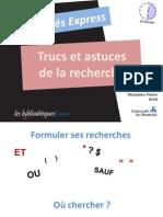 Trucs Et Astuces de La Recherche2012