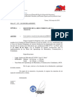 "Convocatoria a Reunión de Docentes de la RED N° 01 ""La  Perla"""