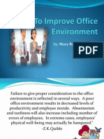 How to Improve Office Environment
