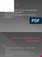 Past Exam Papers and Exemplars