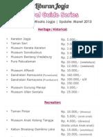 HTM Obyek Wisata Jogja (PDF)