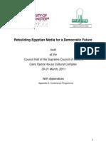 Programme - Rebuilding Egyptian Media for a Democratic Future (March 2011,Cairo)