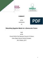 Report - Rebuilding Egyptian Media for a Democratic Future