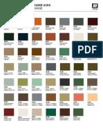 Panzer Aces Color Chart