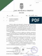 Decizia Consiliului Municipal Cu Privire La Stabilirea Si Punerea in Aplicare a Taxelor Locale