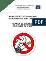 Plan Del Dia Mundial Sin Tabaco