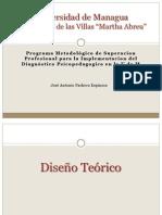 PRESENTACION DE DISEÑO TEORICO METODOLOGICO
