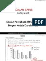 Soalan Jawapan Sains Percubaan UPSR Kedah 2011 (Bhg B ).ppsx