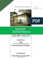 4 MASTER Internazionale in Microfinanza - BANDO IN INGLESE