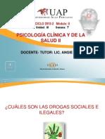 Droagas Ilegales y Adicciones No Convencionales. Semana 6