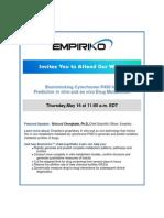 Empiriko invites you to participate in a webinar