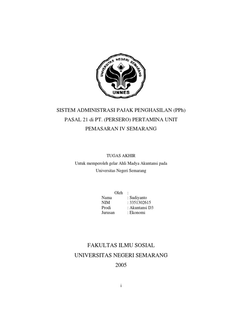 Contoh Skripsi Akuntansi Perpajakan Contoh Soal Dan Materi