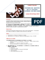 Sistema de Gestion de La Calidad. Norma Iso 9001-2008