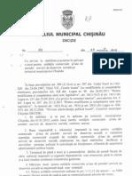 Decizia Cu Privire La Stabilirea Si Punerea in Aplicare a Taxei Pentru Unitatile Comerciale.