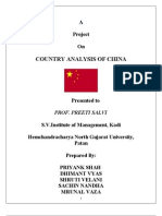 country analysis of china