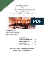feasibility report on restaurant