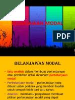 BELANJAWAN MODAL