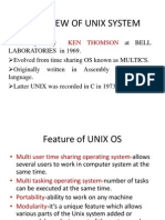 OVER VIEW OF UNIX