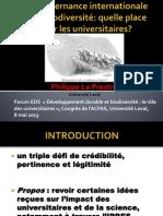Forum EDS 2013 - Philippe Le Prestre